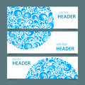 Set of banners with water Royalty Free Stock Photo