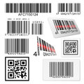 Set of bar codes and qr codes Royalty Free Stock Photo