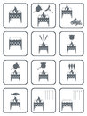 Set of barbecue icons