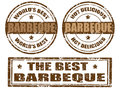 Set of barbeque stamps Royalty Free Stock Image