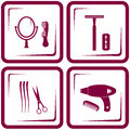 Set barbershop tools symbol of beauty care Royalty Free Stock Image