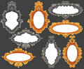 Set of baroque frames Royalty Free Stock Photos