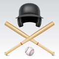 Set of baseball equipment Royalty Free Stock Photo