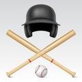 Set of baseball equipment Royalty Free Stock Photo