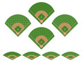Set of Baseball Fields Stock Photo