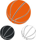 Set of basketball balls contour a ball Stock Images