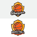 Set of basketball logo, label, badge, emblem.