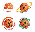 Set basketball team logos a of for teams Royalty Free Stock Photography