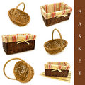 Set of baskets Stock Photos