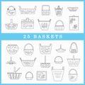 Set of baskets