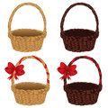 Set of Baskets Royalty Free Stock Photo
