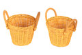 Set of baskets isolated on white Royalty Free Stock Image