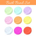 Set of bath bubble bombs. Royalty Free Stock Photo