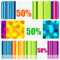Set of beautiful colored banners or price tags Royalty Free Stock Image