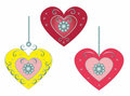 Set beautiful hearts vector illustration this is file of eps format Stock Photos