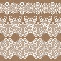 Set of beautiful lace trims can be used for backgrounds or scrap booking Stock Photo