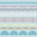 Set of beautiful lace trims can be used for use with backgrounds or scrap booking Royalty Free Stock Photography