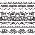 Set of beautiful lace vector trims can be used for use with backgrounds or scrap booking Stock Images