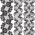 Set of beautiful lace vector trims can be used for use with backgrounds or scrap booking Stock Photos