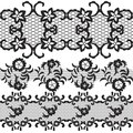 Set of beautiful lace vector trims can be used for use with backgrounds or scrap booking Stock Image