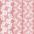 Set of beautiful lace vector trims can be used for use with backgrounds or scrap booking Royalty Free Stock Image