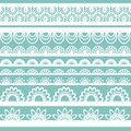 Set of beautiful lace vector trims can be used for use with backgrounds or scrap booking Royalty Free Stock Photography