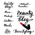 A set of beautiful lettering
