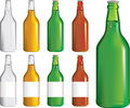 Set of beer bottles Royalty Free Stock Photo
