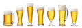 Set of beer glass Royalty Free Stock Photo