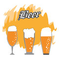 Set of beer glasses. Drink and beverage design. Vector graphic