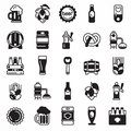 Set of beer icons.