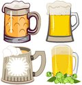 Set of beer mugs Royalty Free Stock Photo