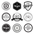 Set of bicycle retro vintage badges and labels eps Royalty Free Stock Photos