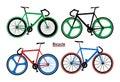 Set bicycles vector image Royalty Free Stock Photo