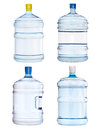 Set of big bottles isolated on white Royalty Free Stock Photography
