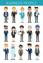 Set of big business People Group Diverse Team, Business team of employees and the boss