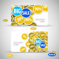 Set of big sale cards Royalty Free Stock Image