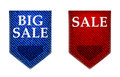 Set of big sale stickers labels tags jeans label illustration Royalty Free Stock Photo