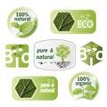 Set of bio, eco, natural Royalty Free Stock Photo