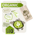 Set of bio, eco, organic elements Royalty Free Stock Images