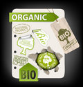 Set of bio, eco, organic elements Royalty Free Stock Photo