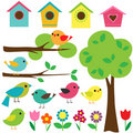 Set of birds Stock Images