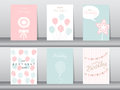 Set of birthday cards Royalty Free Stock Photo