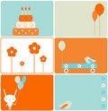 Set of birthday designs Royalty Free Stock Images
