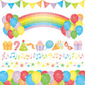 Set of birthday party elements. Stock Image