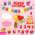 Set of Birthday Party Elements for your design Royalty Free Stock Photos