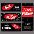 Set of black friday banners. Set of black friday banners. Design for web background. Royalty Free Stock Photo