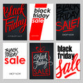 Set of Black Friday Sale flyers with handwritten elements.