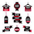 Set of Black Friday sale icons.