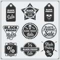 Set of Black Friday Sale tags, banners, badges, labels and design elements.